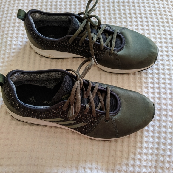 Adidas Cloudfoam Olive Green Sneakers